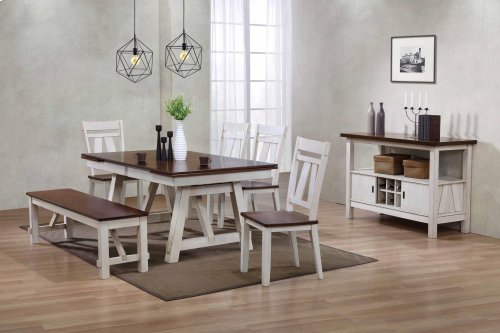 5636/5637  Winslow Farmhouse Reg Dining Table and 6 Chairs OR 4 Chairs and 1 Bench