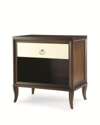 Nightstand With Mirrored Drawer Front Product Image