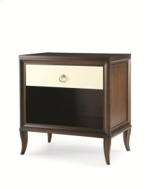 Tribeca Single Nightstand With Mirrored Drawer