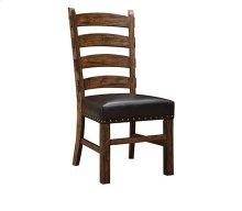 Chambers Creek - Ladderback Side Chair W/black Bonded Leather & Nailhead Trim Rta