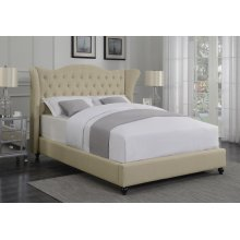 Coronado Beige Upholstered Twin Bed
