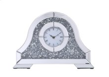 Sparkle 15.7 in. Contemporary Silver Crystal Table clock