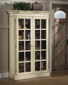 Wilshire Large Library Cabinet Anitque White
