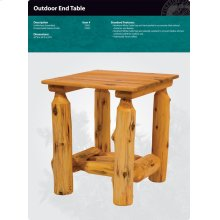 Outdoor End Table