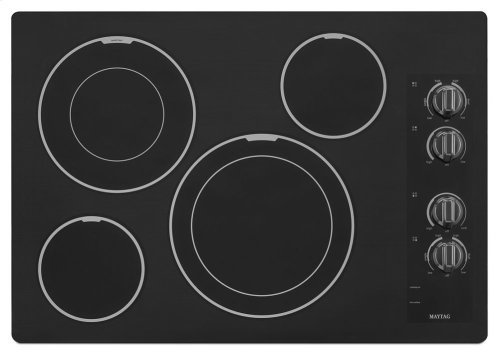 30-inch Wide Electric Cooktop with Two Dual-Choice Elements