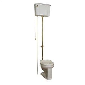 Victoria High Tank Toilet - White/oil Rubbed Bronze Trim Product Image