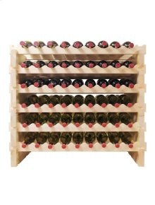 108 Bottle Double Modular Wine Rack (Natural)