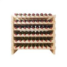 108 Bottle Double Modular Wine Rack (Natural)