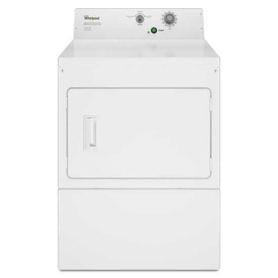 Whirlpool(R) Commercial Gas Super-Capacity Dryer, Non-Coin - White