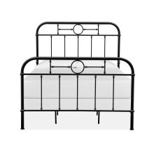 Complete Full Metal Bed - Black
