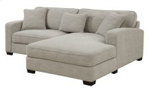 Repose - 2pc Sectional-lsf Chair-rsf Chaise W/3 Pillows Silver