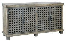 Bengal Manor Metal Lattice Work and Mango Wood Sideboard