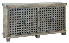 Bengal Manor Metal Lattice Work and Mango Wood Sideboard