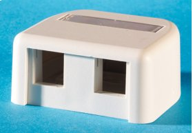 Surface mount box, holds two Keystone jacks or modules