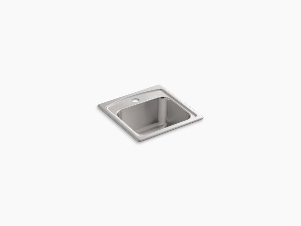 Top Mount Bar Sink With Single Faucet Hole