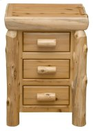 Three Drawer Nightstand - Natural Cedar Product Image