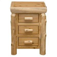 Three Drawer Nightstand - Natural Cedar