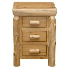 Three Drawer Nightstand - Natural Cedar