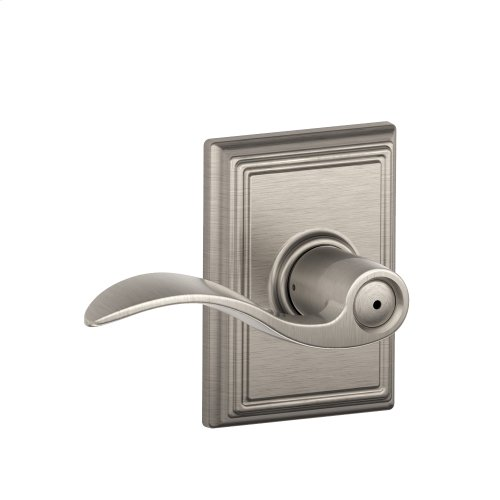 Accent Lever with Addison trim Bed & Bath Lock - Satin Nickel
