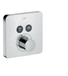 Chrome ShowerSelect thermostatic mixer Softcube for 2 outlets for concealed installation