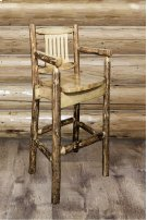 Glacier Country Captains Barstool with Back Product Image