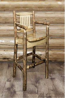 Glacier Country Captains Barstool with Back