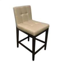 Transitional Beige and Cappuccino Counter-height Stool