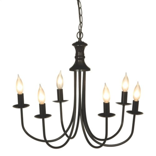 Small Black Bell Chandelier 25W Max.