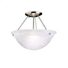 Cove Molding Top Glass Collection Cove Molding 2 Bulb Semi Flush Ceiling Light NI