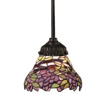 Mix-N-Match 1-Light Mini Pendant in Tiffany Bronze and Tiffany Style Glass