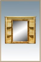 Glacier Country Log Deluxe Dresser Mirror Product Image