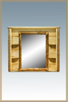 Glacier Country Log Deluxe Dresser Mirror