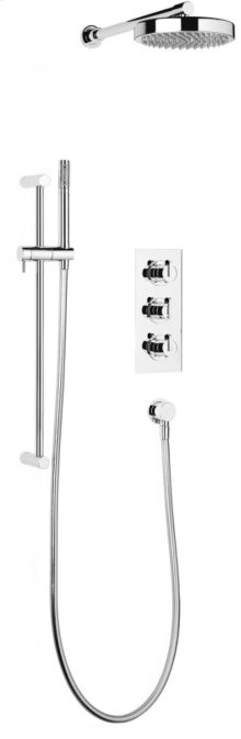 "Chrome Plate 1/2"" Concealed thermostatic shower with 2 volume controls"