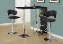 BARSTOOL - BLACK / CHROME METAL HYDRAULIC LIFT