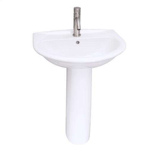 Karla 605 Pedestal Lavatory - Single-Hole
