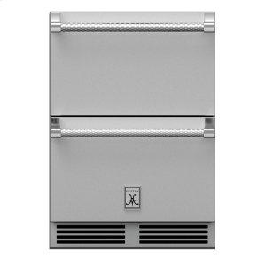 "24"" Hestan Outdoor Refrigerator Drawers - Grr Series - Steeletto"