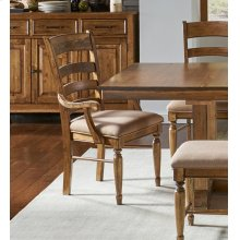 LADDERBACK UPHOLSTERED ARM CHAIR