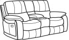 Woodstock Fabric Power Reclining Loveseat with Console Product Image