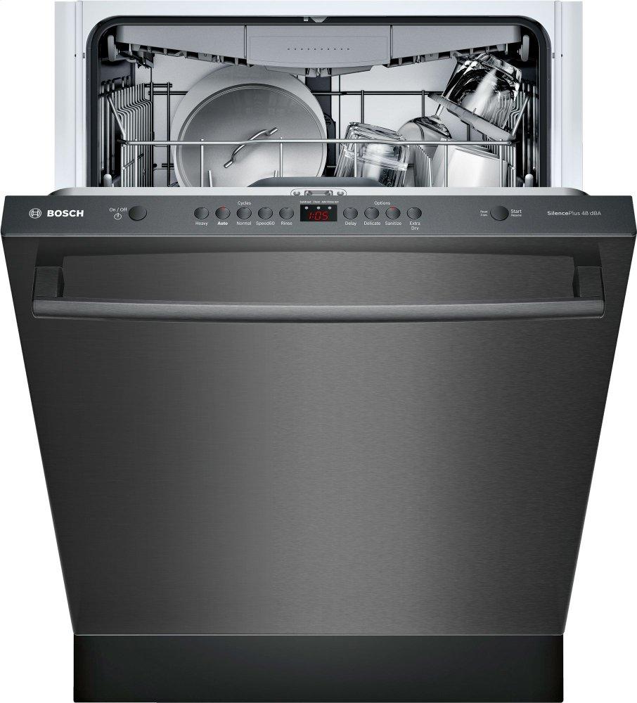 SHXM4AY54NBosch 100 Series Dishwasher 24'' Black stainless
