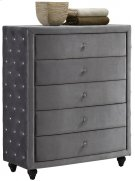 "Hudson Grey Velvet Chest - 43""W x 19""D x 50""H Product Image"