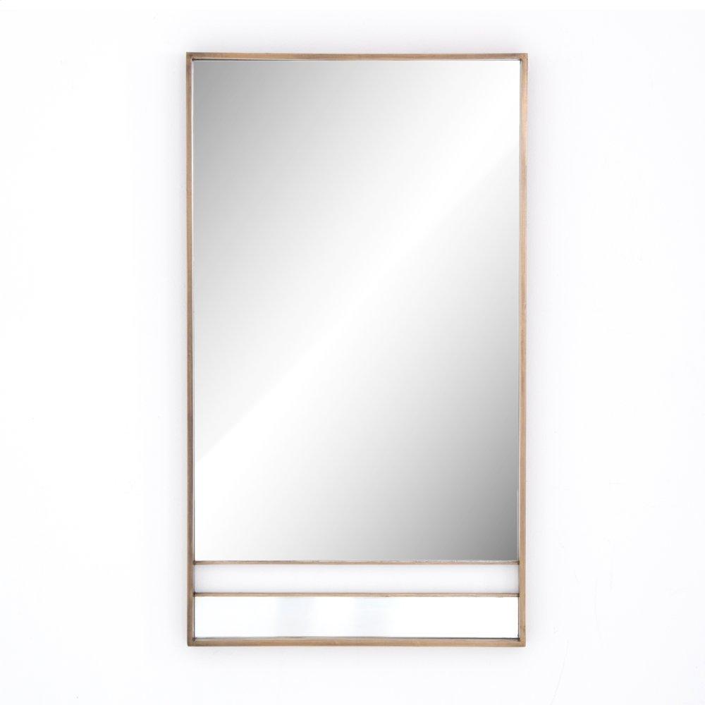 Fitzgerald Mirror-antique Brass