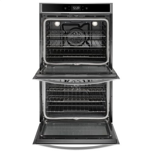 Whirlpool® 10.0 cu. ft. Smart Double Wall Oven with True Convection Cooking - Black-on-Stainless