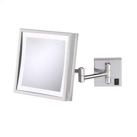 Chrome Single-Sided LED Square Wall Mirror