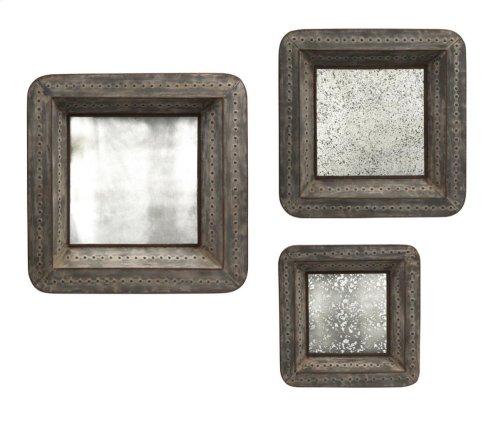 Jezant Mirror Tray Wall Decor - Set of 3