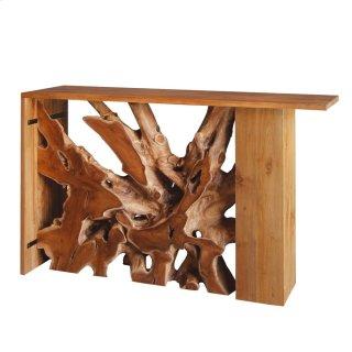 Lennox Teak Wood Console Table, Natural