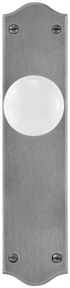 Knob on escutcheon set - Privacy trim set without mechanism