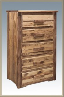 Homestead 5 Drawer Chest of Drawers - Stained and Lacquered