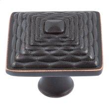Mandalay Square Knob 1 1/4 Inch - Venetian Bronze