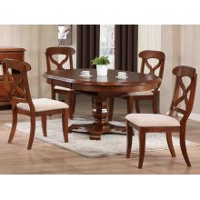 DLU-ADW4866-C12-CT5PC  5 Piece Andrews Butterfly Leaf Dining Set  Chestnut