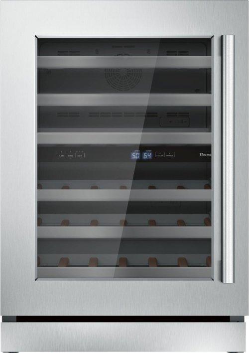24 3/16'' Glass Door Wine Reserve Masterpiece Handle Left Hinge T24UW810LS